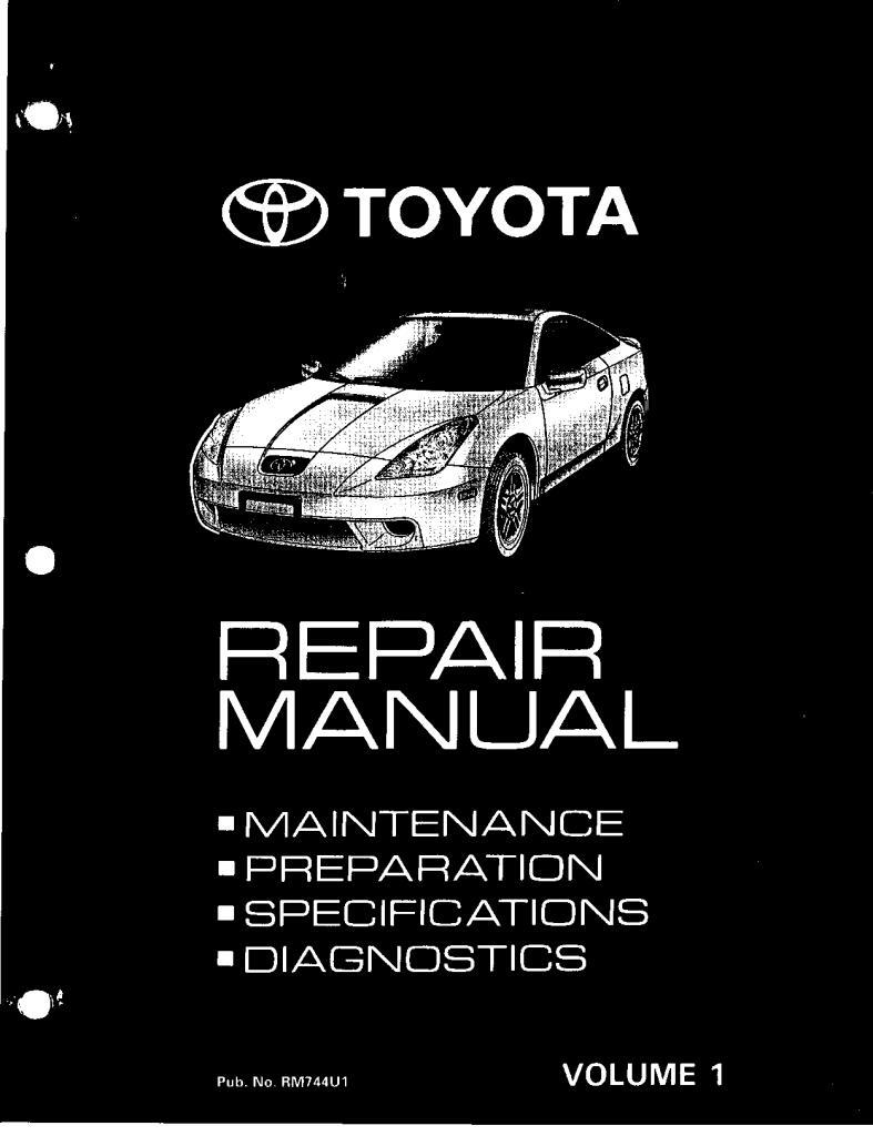2000 Celica T23 Repair Manual Volume 1 Pdf  11 Mb